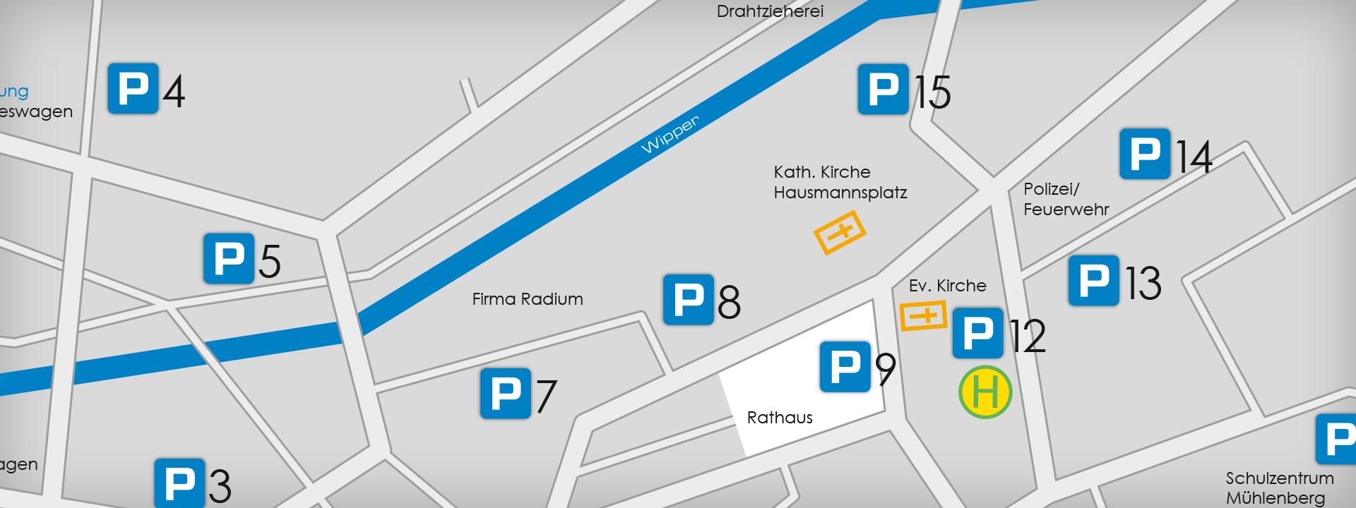 Parkplätze in Wipperfürth