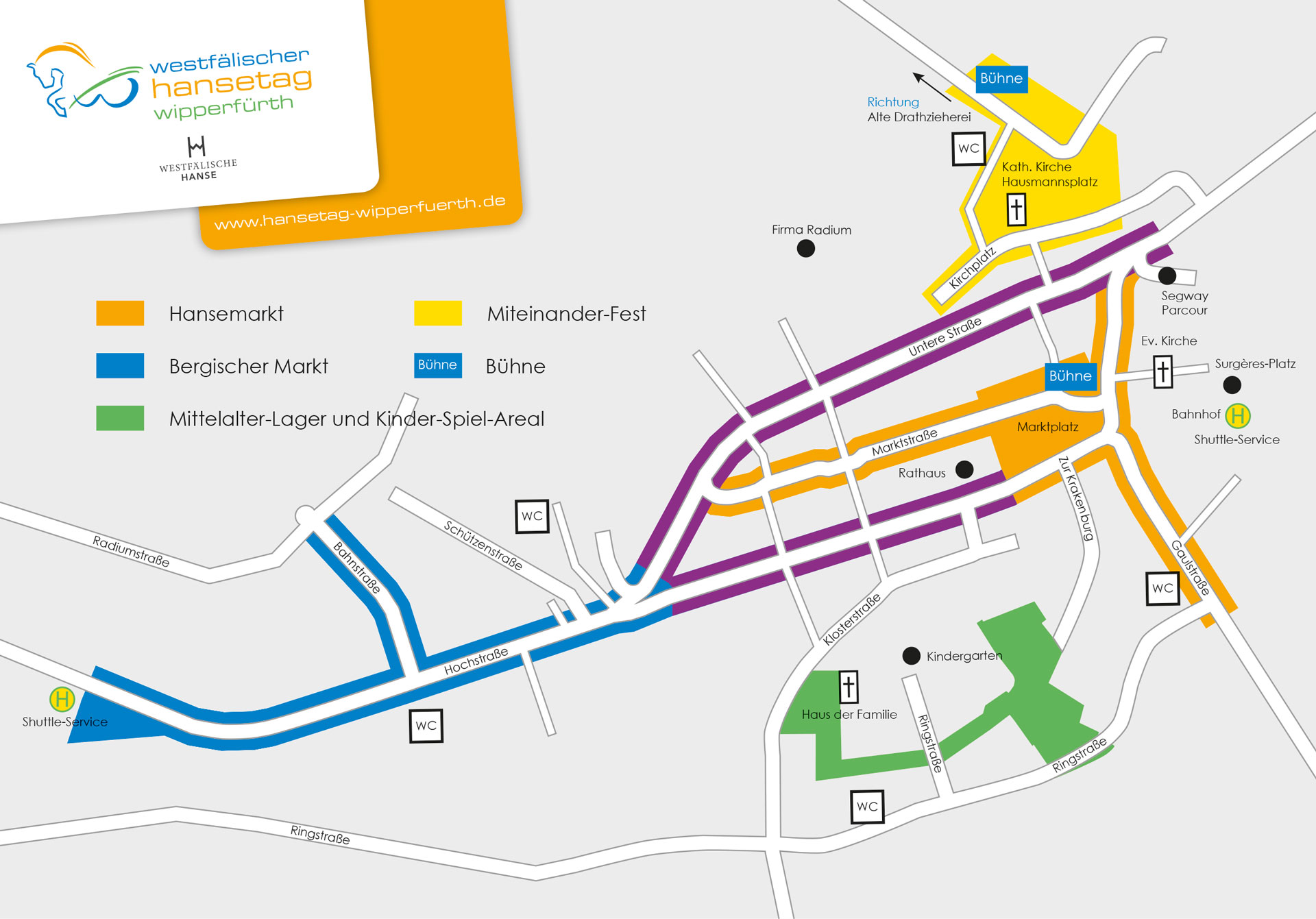 Karte zum Hansetag in Wipperfürth