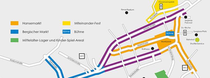 Veranstaltungskarte zum Hansetag in Wipperfürth